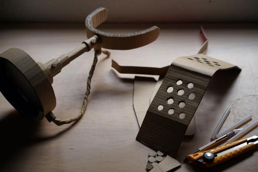 Micrófono de cartón - Cardboard microphone - unsoloboton